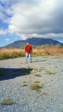 雲がかかつた利尻岳