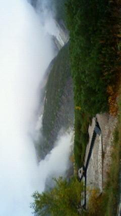 山から湯気