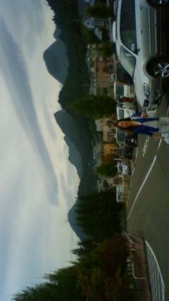 蔵王山の麓