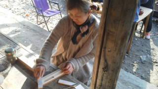 クロモジ箸作り体験